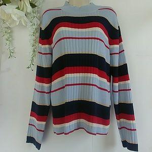 Mountain Lake Striped Ribbed Sweater